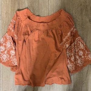 OTS terra-cotta shirt